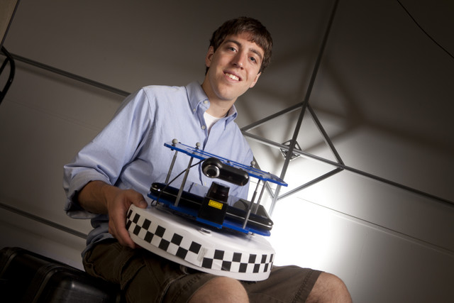 Adam Caccavale studies cooperative control of multiple robots for his independent study research.