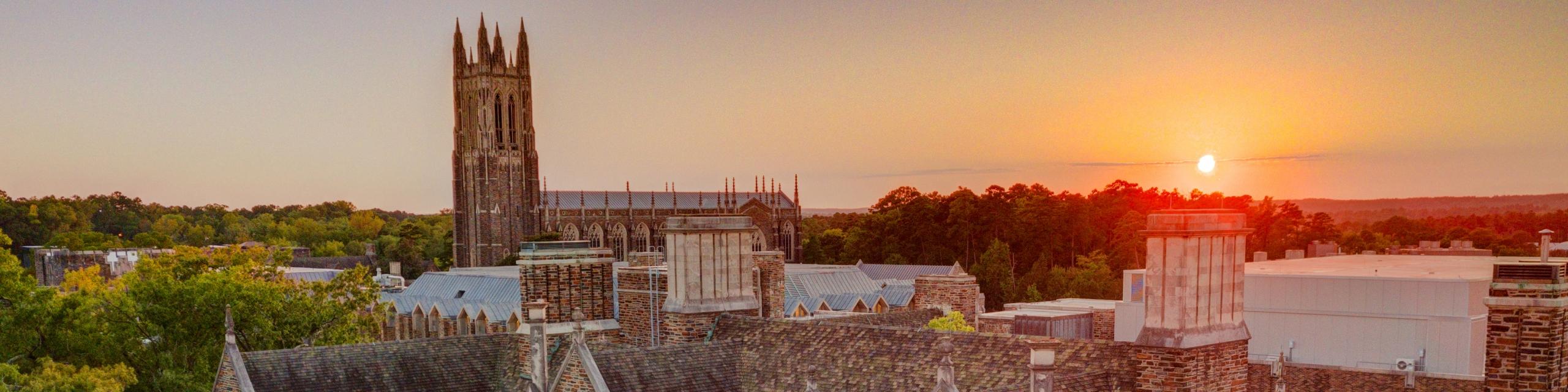 sunrise over Duke University