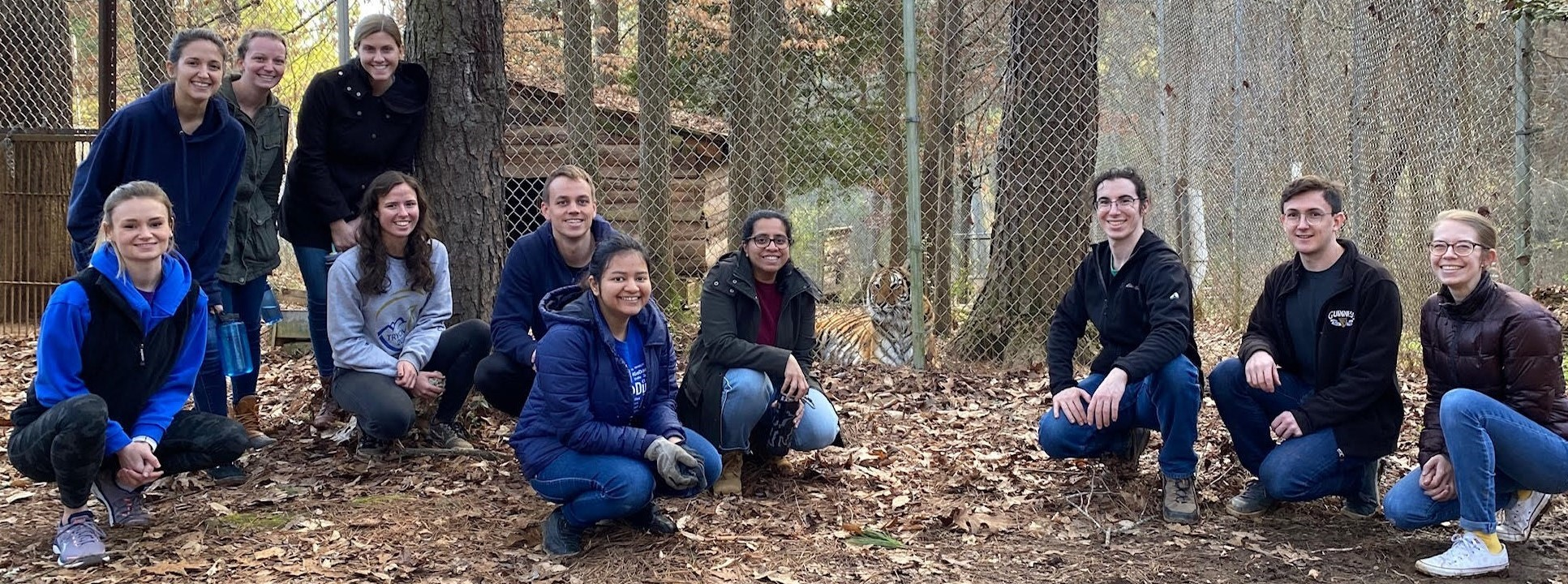 MEMS Graduate Student Committee at Carolina Tiger Rescue