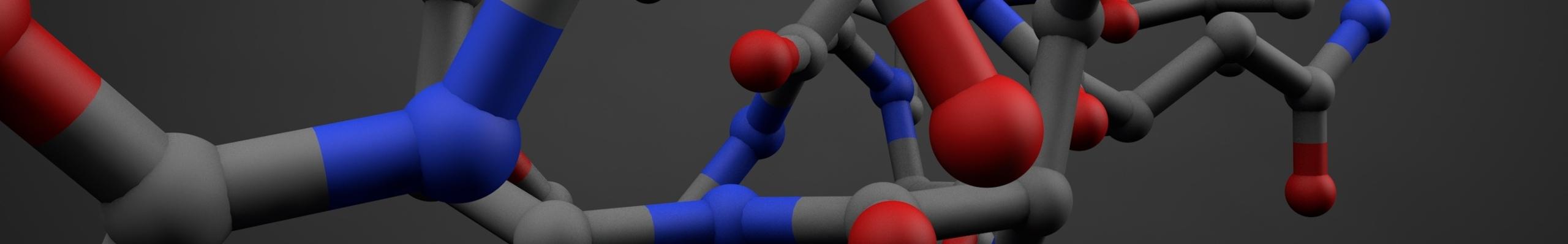 Illustration of a polymer molecule