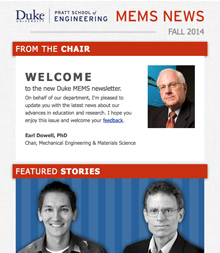 Duke MEMS E-Newsletter