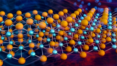 representation of the crystal lattice of the thermoelectric compound Mg3Sb2