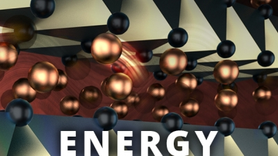 research illustration of liquid copper with text ENERGY