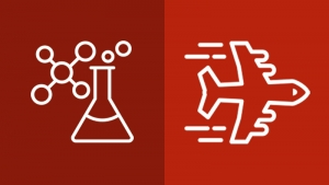 chemistry and airplane icons