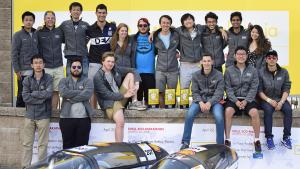 Duke Electric Vehicles team with Eco-Marathon prizes