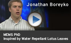 Jonathan Boreyko - Inspired by Water Repellant Lotus Leaves