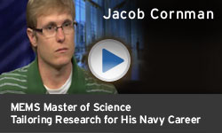 Jacob Cornman - Tailoring Research for His Navy Career