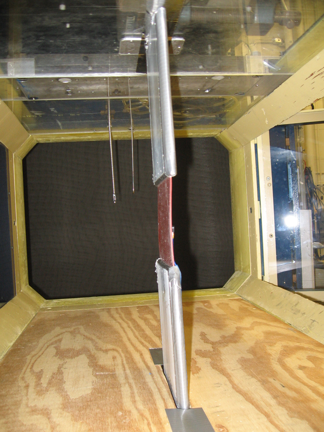 Duke MEMS wind tunnel interior view