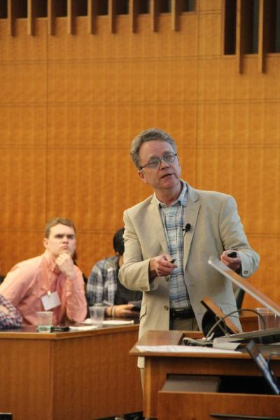 University of Minnesota Regents Professor Timothy Lodge delivered the plenary speech at the 2019 Triangle Soft Matter Workshop