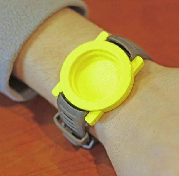 Prototype of watch project on wrist